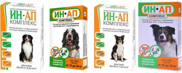 Ин-Ап комплекс для собак - инструкция по применению