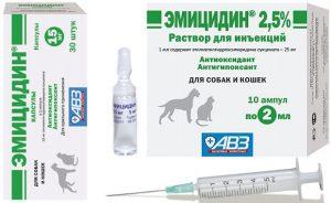Эмицидин для собак инструкция